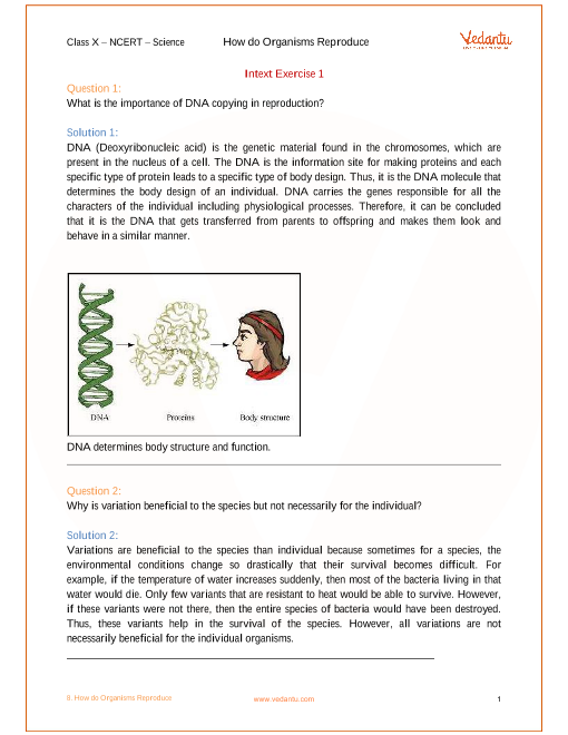 Chapter 8 - How do Organisms Reproduce part-1