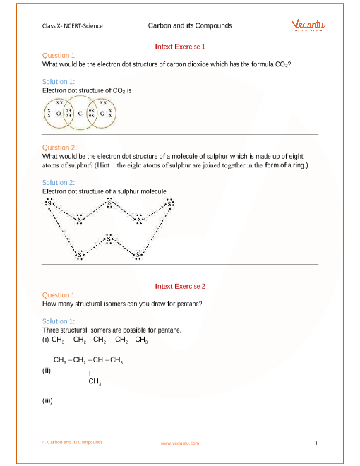 NCERT Solutions for Class 10 Science Chapter 4 Carbon and Its ...