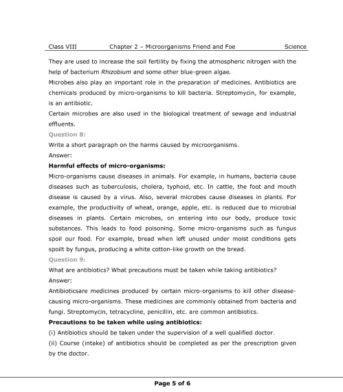 NCERT Solutions for Class 8 Science Chapter 2