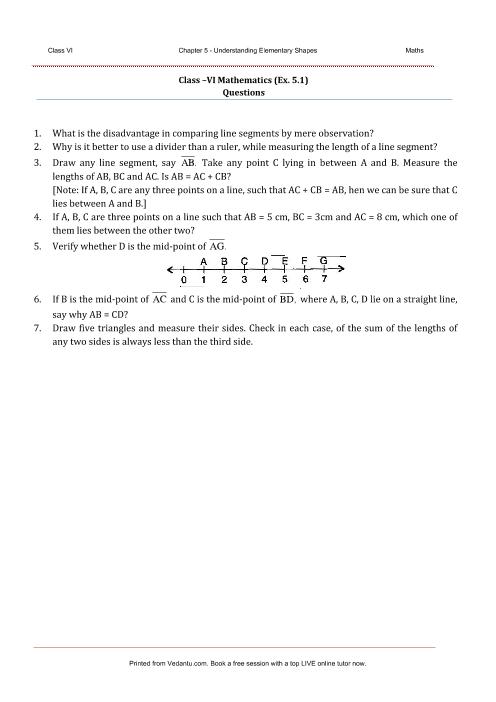NCERT Solutions for Class 6 Maths Chapter 5 Understanding Elementary