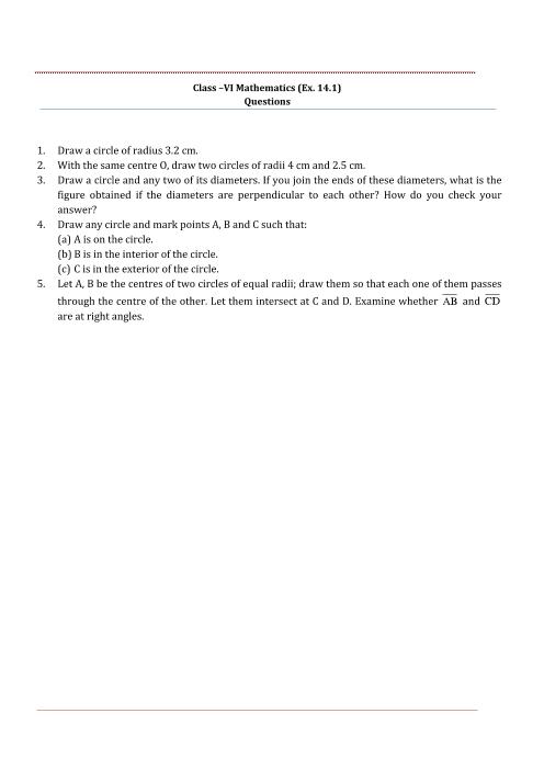 NCERT Solution-Practical Geometry part-1