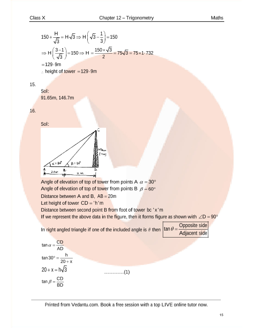 RD Sharma Class 10 Maths Solutions Chapter 12 - Some