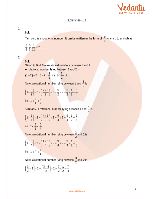 RD Sharma Class 9 Maths Solutions Chapter 1 - Number System