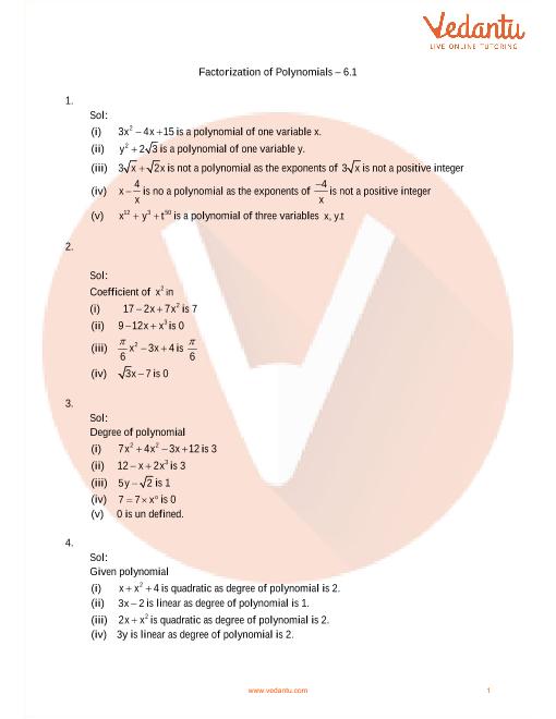 RD Sharma Class 9 Maths Solutions Chapter 6 - Factorization