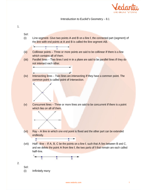 RD Sharma Class 9 Maths Solutions Chapter 7 - Introduction