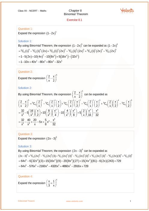 ncert class xi mathematics book pdf