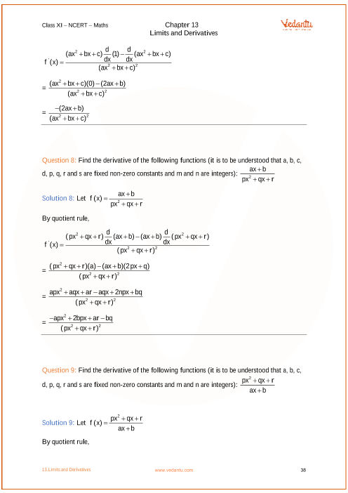 NCERT Solutions for Class 11 Maths Chapter 13 Limits and