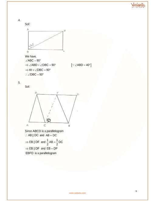 RD Sharma Class 9 Maths Solutions Chapter 14 - Quadrilaterals