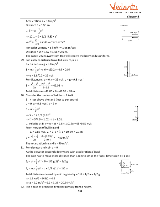 HC Verma Class 11 Physics Part-1 Solutions for Chapter 3 - Rest and