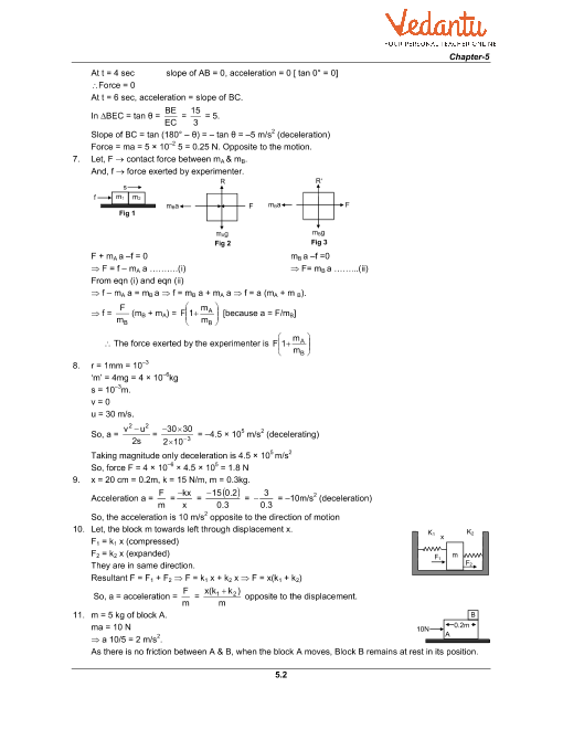 HC Verma Class 11 Physics Part-1 Solutions for Chapter 5
