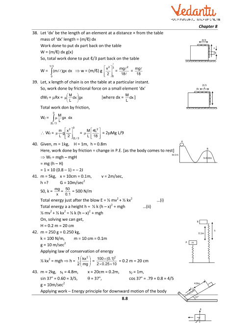 HC Verma Class 11 Physics Part-1 Solutions for Chapter 8