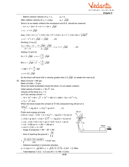 HC Verma Class 11 Physics Part-1 Solutions for Chapter 9