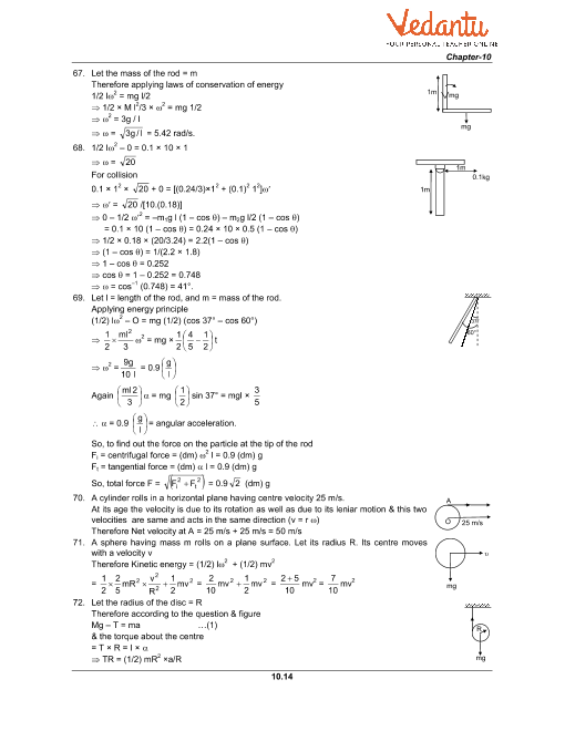 HC Verma Class 11 Physics Part-1 Solutions for Chapter 10