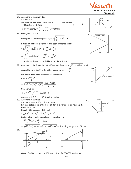 HC Verma Class 11 Physics Part-1 Solutions for Chapter 16