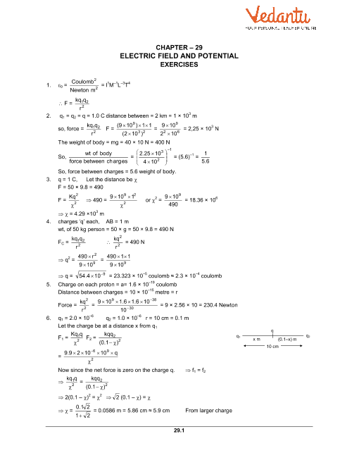 HC Verma Class 12 Physics Part-2 Solutions for Chapter 29