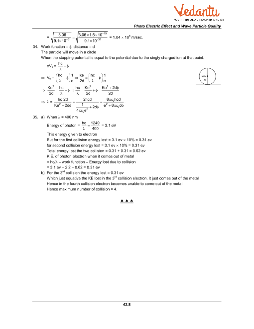 HC Verma Class 12 Physics Part-2 Solutions for Chapter 42