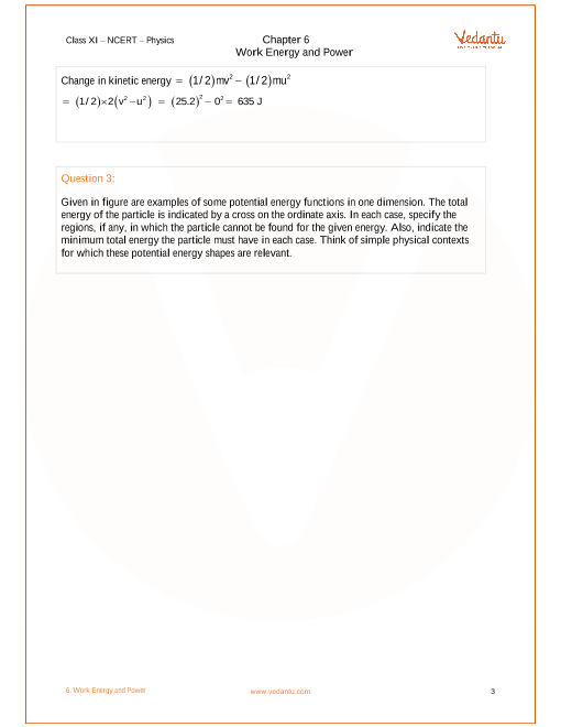 NCERT Solutions for Class 11 Physics Chapter 6 Work, Energy and