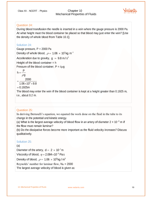 NCERT Solutions for Class 11 Physics Chapter 10 Mechanical