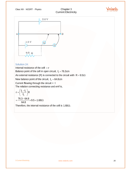 NCERT Solutions for Class 12 Physics Chapter 3 Current Electricity