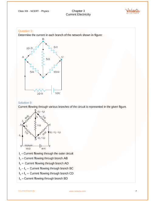 NCERT Solutions for Class 12 Physics Chapter 3 Current