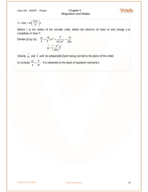 NCERT Solutions for Class 12 Physics Chapter 5 Magnetism and Matter
