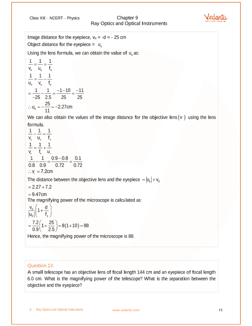 Physics Numericals For Class 10 Chapter 9
