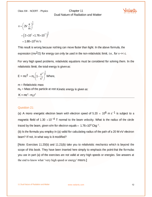 NCERT Solutions for Class 12 Physics Chapter 11 Dual Nature and