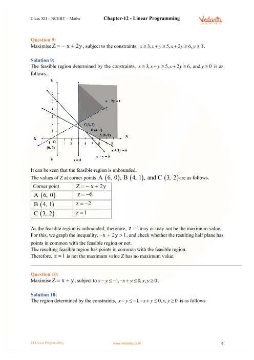 NCERT Solutions for Class 12 Maths Chapter 12 Linear Programming