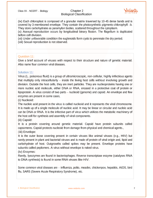 NCERT Solutions for Class 11 Biology Chapter 2 Biological
