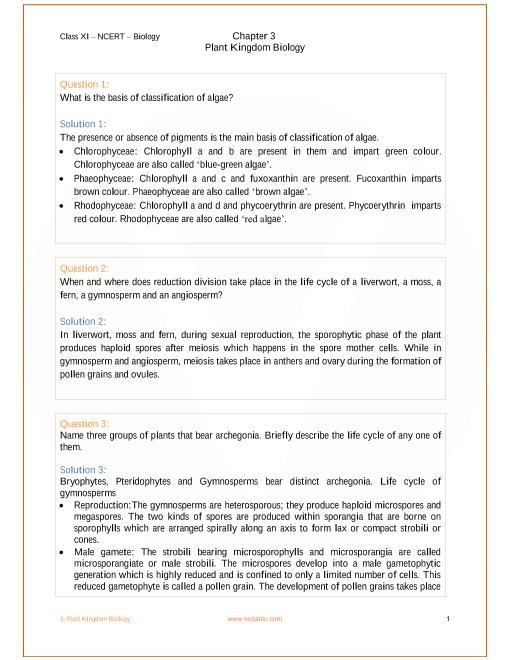 ncert class 11 biology pdf chapter 3