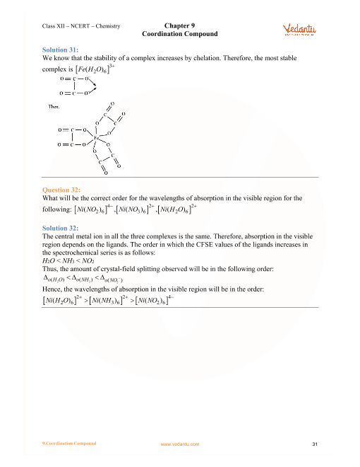 NCERT Solutions for Class 12 Chemistry Chapter 9