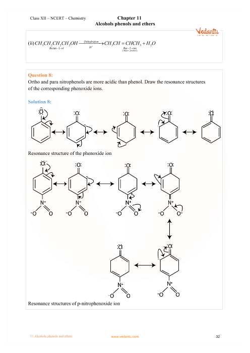 NCERT Solutions for Class 12 Chemistry Chapter 11 Alcohols, Phenols