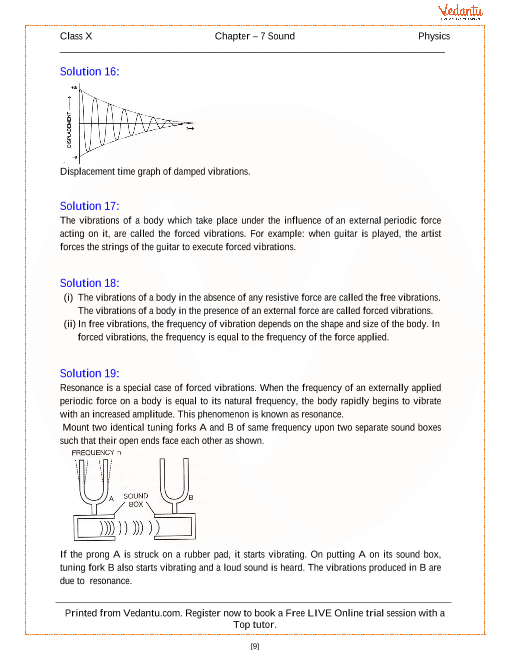 Sound Solutions for ICSE Board Class 10 Physics (Concise - Selina
