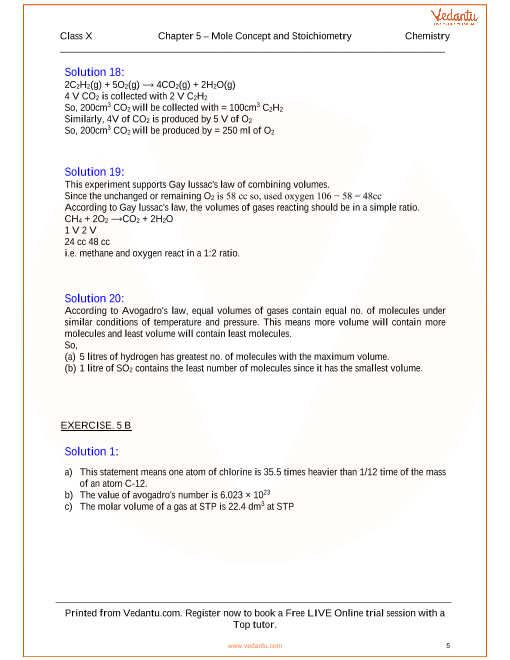 Mole Concept and Stoichiometry Solutions for ICSE Board