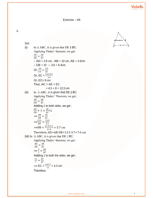 RS Aggarwal Class 10 Solutions Chapter 4 Triangles