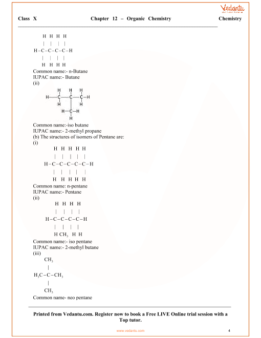 Organic Chemistry Solutions for ICSE Board Class 10 Science (Concise