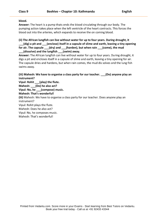 CBSE9 English Beehive - 10 part-5
