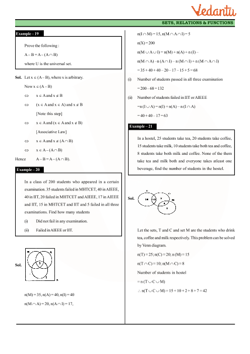 Class 11 Maths Revision Notes for Chapter-1 Sets