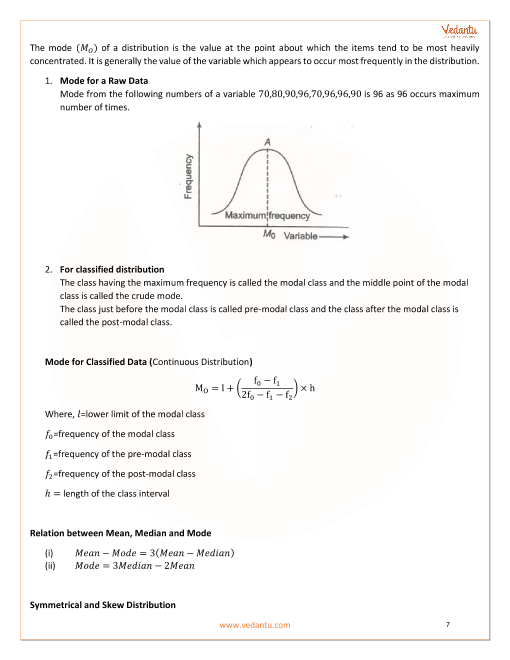 Class 11 Maths Revision Notes for Statistics of Chapter 15