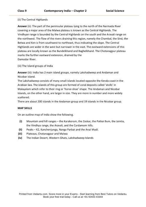 NCERT Solutions for Class 9 Social Science Contemporary