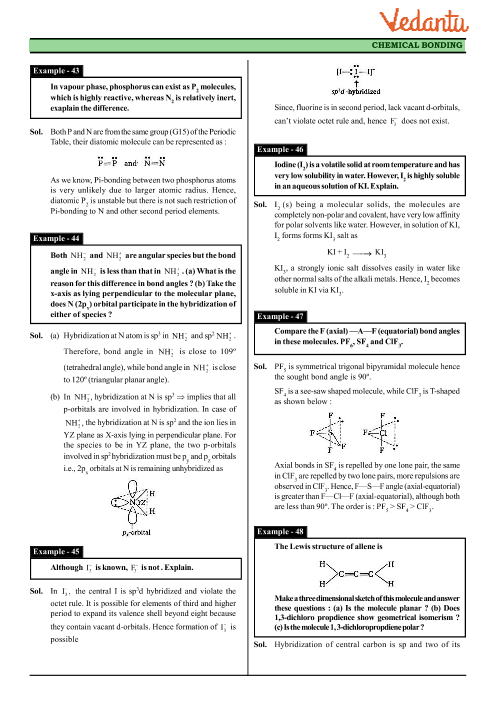 Class 11 Chemistry Revision Notes for Chapter 4 - Chemical Bonding