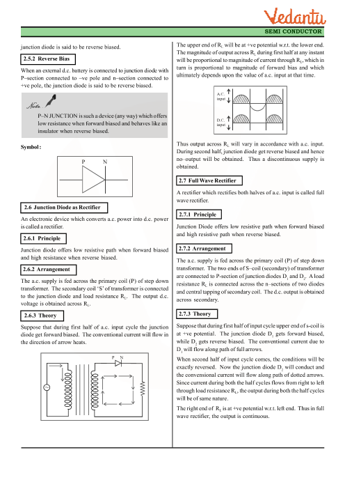 Class 12 Physics Revision Notes for Chapter 14 - Semiconductor