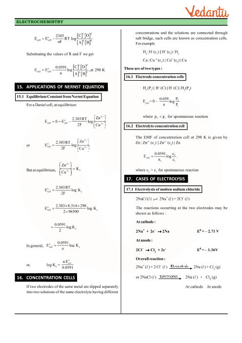 Class 12 Chemistry Revision Notes for Chapter 3