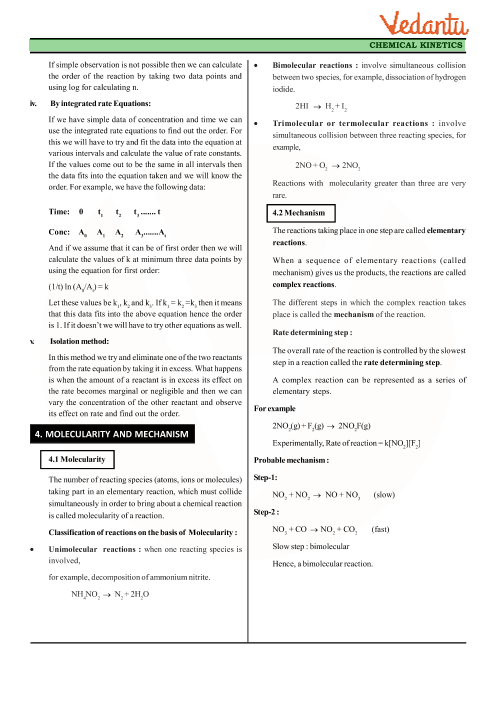 Class 12 Chemistry Revision Notes for Chapter 4 - Chemical