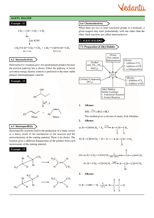 Class 12 Chemistry Revision Notes for Chapter 10 - Haloalkanes and