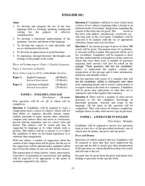 1.ICSE Class 10 English Syllabus part-1