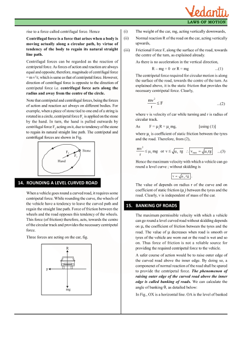 Class 11 Physics Revision Notes for Chapter 5 - Law of Motion