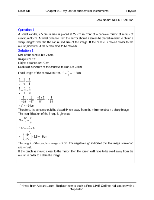 NCERT Solutions for Class 12 Physics Chapter 9 part-1