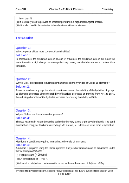 NCERT Books Free Download for Class 12 Chemistry Chapter 7