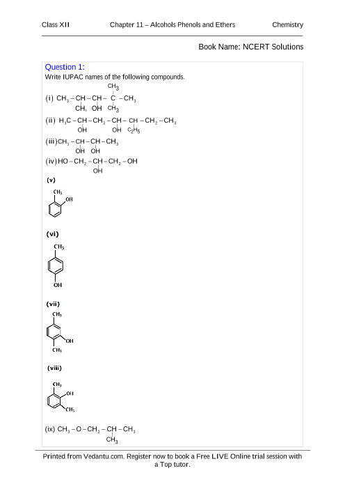 NCERT Books Free Download for Class 12 Chemistry Chapter 11